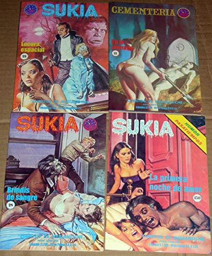 4 Sukia Pulp Art Horror Sexy Vampire Zombie Adult Horror Comics Evilfrance, Fumetti Adult Italian Art Damsel in Distress Vintage 1980s EvilFrance