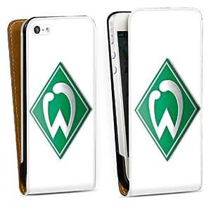 Diseño para Apple iPhone 5 DesignTasche Downflip black - Werder Bremen weiß