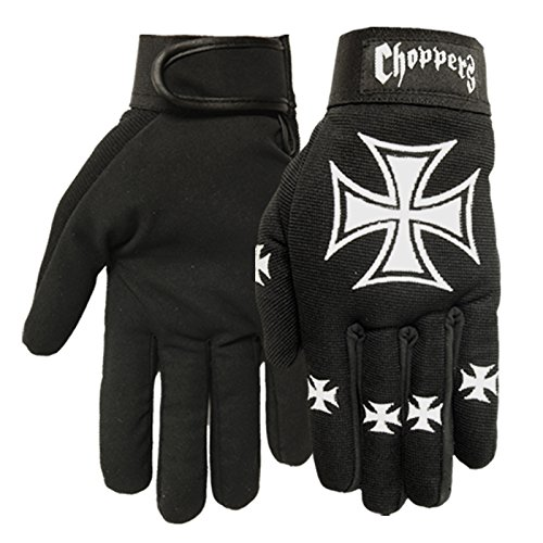 Hot Leathers Choppers Mechanic Gloves (Black, XX-Large)