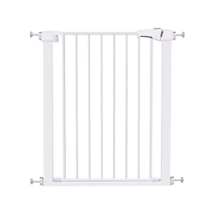 Indoor Safety Gates Adjustable Child Gate Metal White Pet Fence For Kitchen  Bathroom Bedroom Balcony Easy