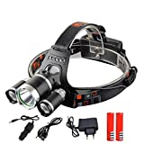 40000 Lumens Headlamp 5LED XML T6 Headlight 4Mode Headlamp Rechargeable Head Lamp Flashlight+218650 Battery+AC/DC Charger Option K