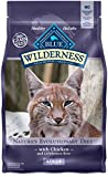 Blue Buffalo Wilderness High Protein Grain Free, Natural Adult Dry Cat Food, Chicken 2.5-lb