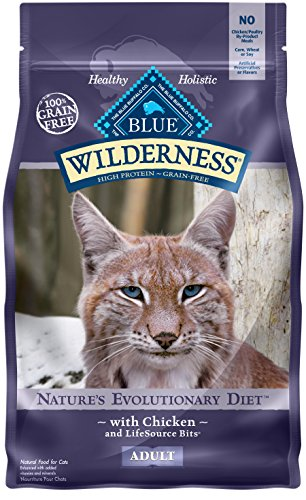BLUE Wilderness Adult Grain Free Chicken Dry Cat Food (High Protein Dry Food)