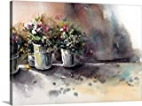 greatBIGcanvas Gallery-Wrapped Canvas entitled Flower Pots by Sophia Rodionov 36''x26''