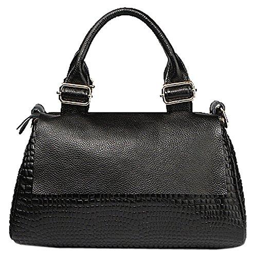 Carterd Fashion Ladies Designer Womens Genuine Leather Handbags Shoulder Bags Black Nice