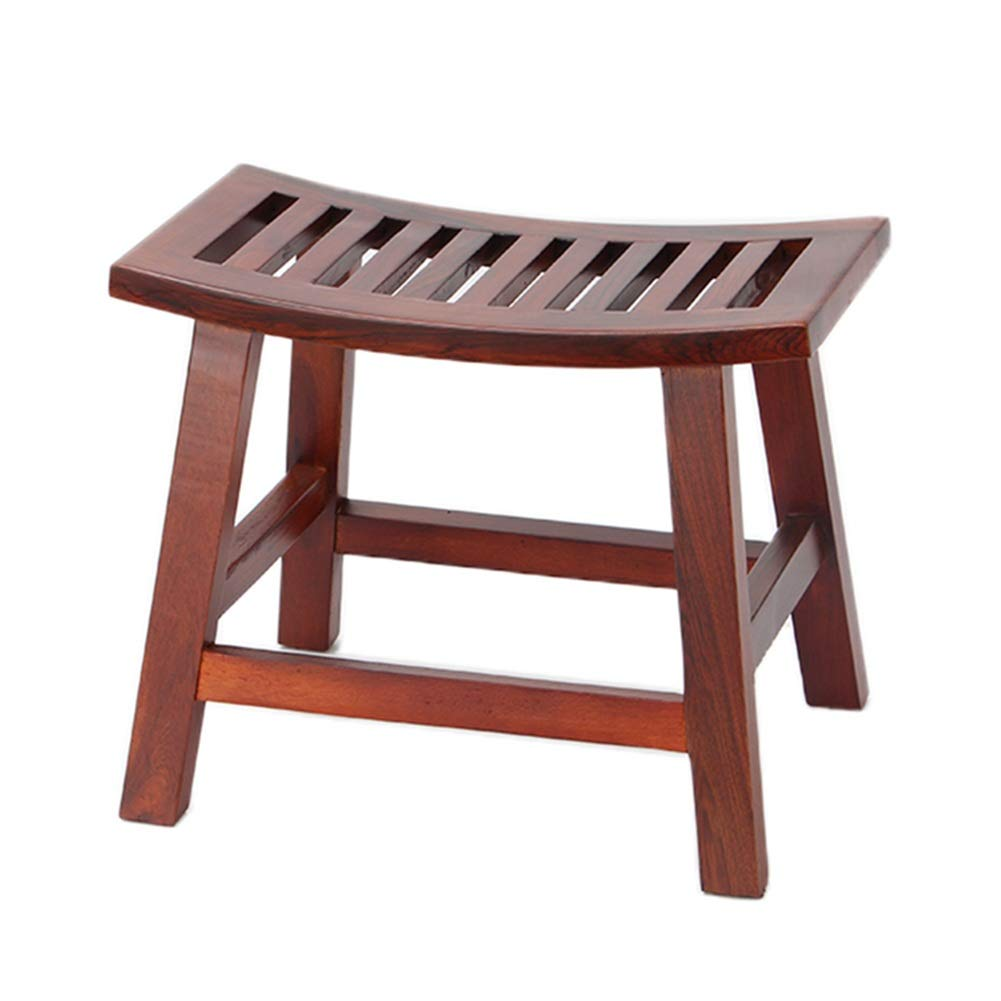 I-pinkwood - Small ZHAOYONGLI Solid Wood Stool Household Coffee Table Stool Living Room Sofa Stool Creative Change shoes Bench Creative Solid Durable Long Lasting (color   D-Ebony)