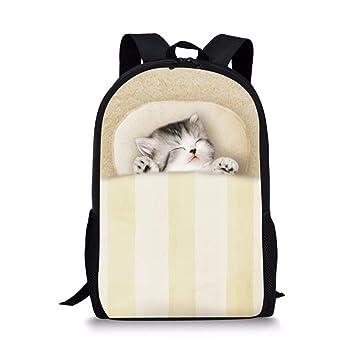 Cute Cat Print Kids Mochilas Escolares Mochila ortopédica CC7050C: Amazon.es: Equipaje