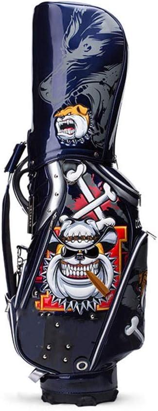 ゴルフバッグ、100%防水、大容量、持ち運びが簡単、ブルー happyL