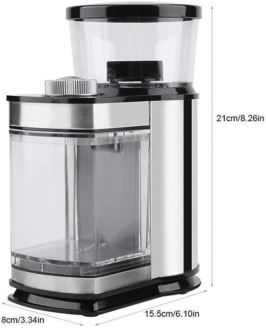 Fighrh Molinillo de café eléctrico Máquina de moler for el hogar ...