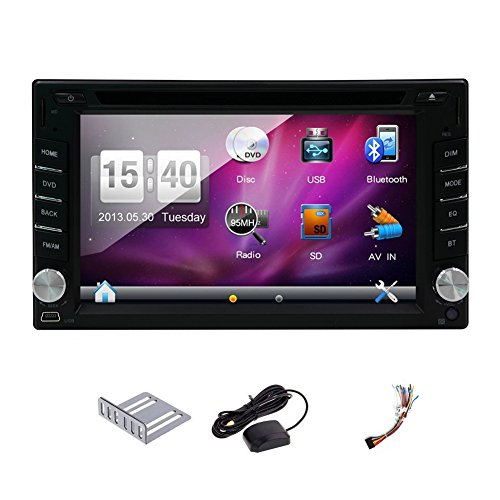 Hot sale 6.2''Wince car dvd gps player Bluetooth GPS Nav car audio Digital Touch screen Radio car2din AUX/SD/USB universal in deck Car CD Player