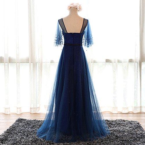 Manches Sweetheart 12 Goddess Robe Parti Longueur Mariée 14 Formelle Marine De Banquet Sun Robe Bleu Robe Courtes Soirée Étage 8Ffvq