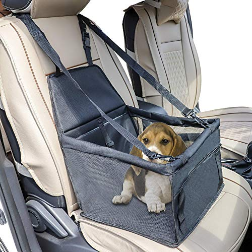 Chaufly Folding Dog Cat Booster Car Seat/Safe Travel Carrier Bag for Small and Medium Pets up to 30 - 30 Booster Up Car Seats Lbs And