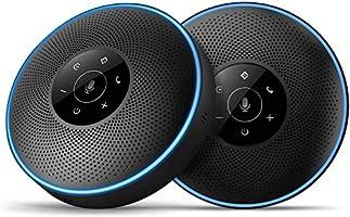 スピーカーフォン(2台セット) eMeet マイクスピーカー 連結機能 ワイヤレススピーカーフォン 8-16名程度の中大会議用 360˚全方向集音 エコー・ノイズのキャンセリング USB/Bluetooth/AUX対応 高音質 位置検出機能...