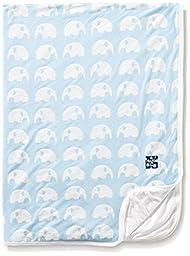 KicKee Pants Baby Essentials Print Stroller Balnket, Pond Elephant, One Size