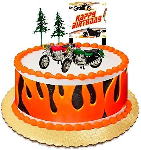 Fine Amazon Com Motor Bike Motorcycle Cake Decoration Cake Topper With Birthday Cards Printable Trancafe Filternl