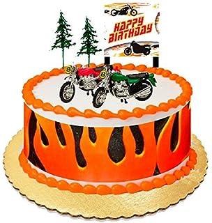 Amazoncom HarleyDavidson Edible Cake Topper Personalized Icing