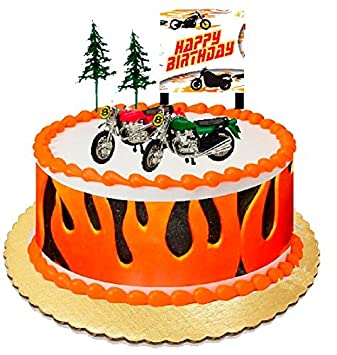 Amazoncom Set of 2 Motorcycle Cake Toppers Toys Games