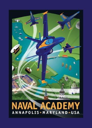 Price comparison product image Blue Angels: Naval Academy Pack of 10 cards by Joe Barsin, 5x7