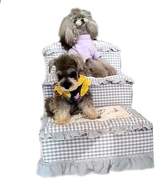 IG Cama alta, gato y perro Rampa para mascotas Escalera para mascotas Toparchery Escaleras para perros de 3 escalones Escalera desmontable Pisada para la cama, almohadilla para caminar, rejilla Alfom: Amazon.es: Bricolaje