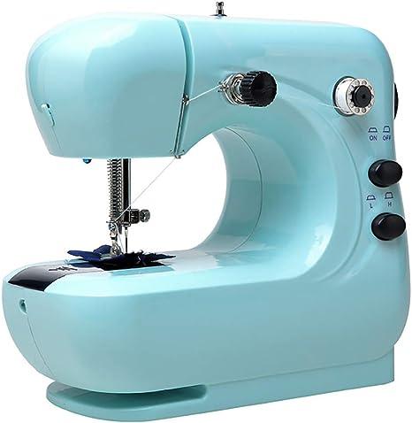 Opinión sobre Mini Máquina De Coser, Portable 2 Velocidad De Bordado Costura Heavy Duty Máquina Que Acolcha con El Pedal del Pie Fácil De Usar Eléctrica Elaboración De La Reparación De La Máquina,Azul