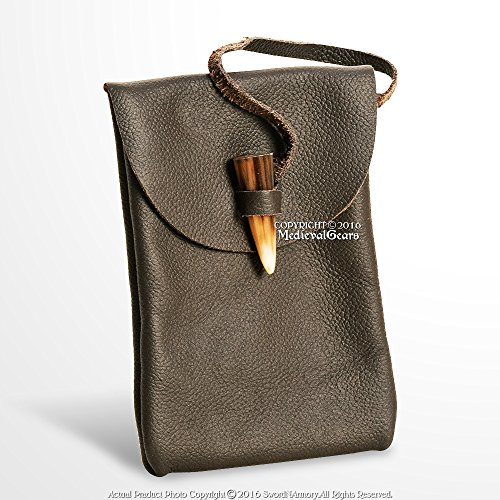 leather belt pouch medieval - 9