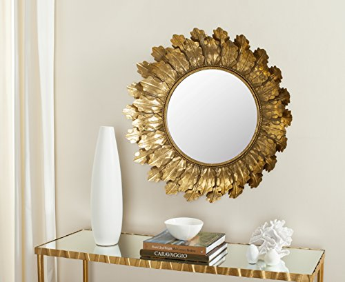 Safavieh MIR4082A Not Applicable Home Collection Paradox Gold Leaf Mirror by Safavieh