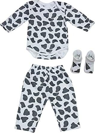 TenTeeTo Infant Pants Clothing Set Unisex with Animal Print - Trendy Baby Gift (0-3 Months, Medium Spots)