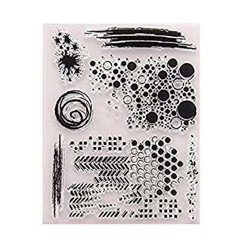 1 dise/ño de Cuentas 10 Sello de Silicona Transparente para Manualidades 1 Lkinst DIY