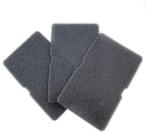 Juego de 3 filtros para secadora de bomba de calor Beko Grundig, filtro de esponja, esterilla de filtro, secador de condensacion, filtro de pelusa, filtro de pelusa 2964840100