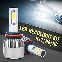 Auto Car Headlight - Pack of 2 COB LED, 40W 10000LM All In One Car LED Headlights Bulb Fog Light, White 6000K Head Lamp H1 H4 H7 H8 H9 H10 H11 H13 HB1-HB5 9003-9008