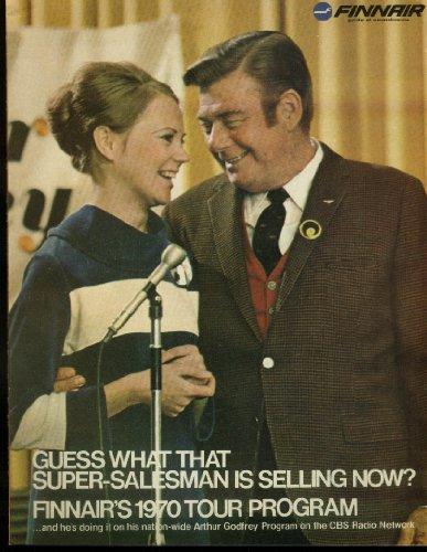 - Finnair 1970 Tour Program airline brochure Arhur Godfrey