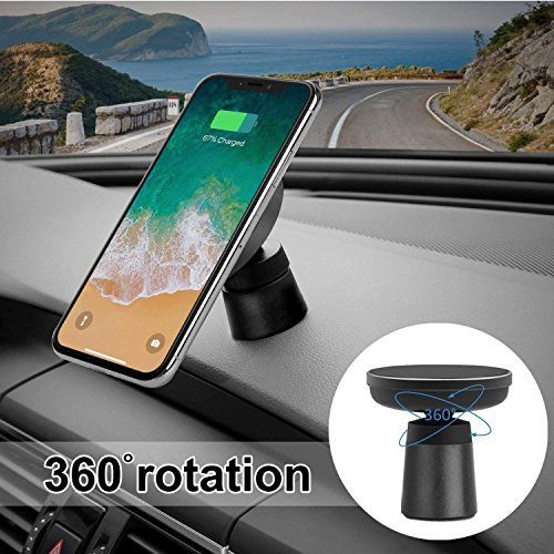 Fast Wireless Car Charger Magnetic Charging Pad Car Mount on Dashboard and Air Vent Phone Holder for Samsung Galaxy S9 (Plus) Note 8 S8 Standard Wireless Charging for iPhone X/8 Plus by Spedal (Image #5)
