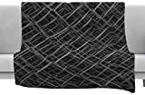 KESS InHouse Nick Nareshni Urban Metal Links Black White Photography Fleece Throw Blanket x, 40'' x 30''
