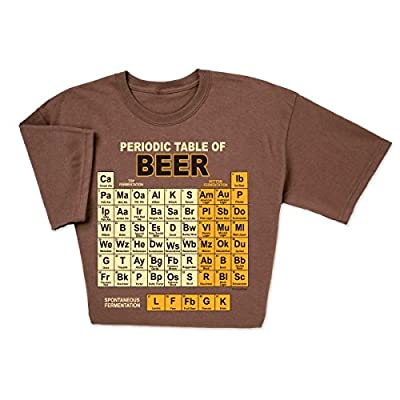 ComputerGear Funny Beer T Shirt Periodic Table Chemistry Geek Nerd Unisex Tee