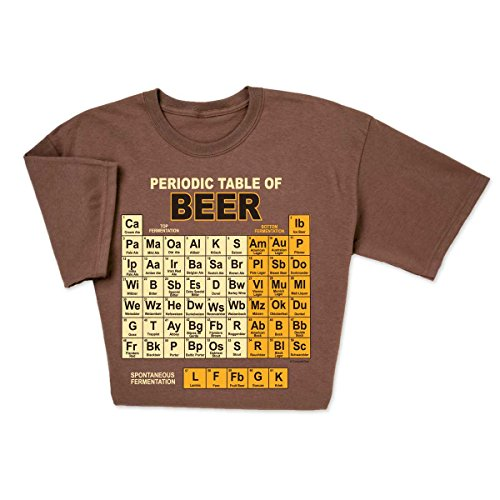 ComputerGear Funny Beer T Shirt Periodic Table Chemistry Geek Nerd Tee, - Of Periodic Beer Table
