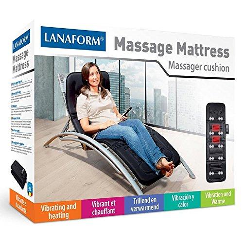 Lanaform LA Colchón de masaje por vibración motores niveles de intensidad