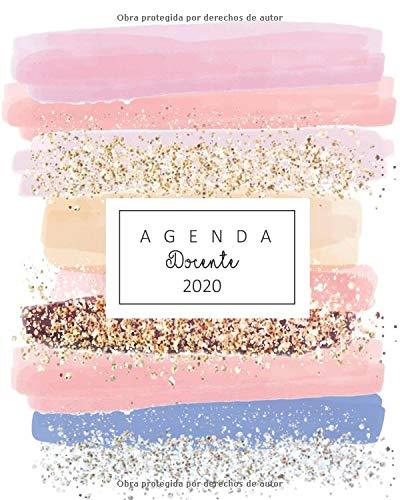 agenda docente 2020 linda agenda docente para estar organizada en regreso a clase ideal para regalar  [regalo personalizado, kiara] (Tapa Blanda)