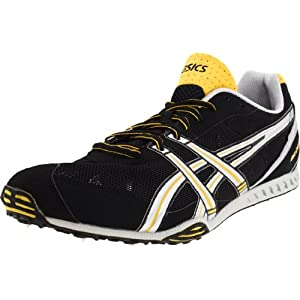 ASICS Men's GEL-Dirt Dog 3 Track & Field Shoe,Black/Silver/Yellow Jacket,12 D US