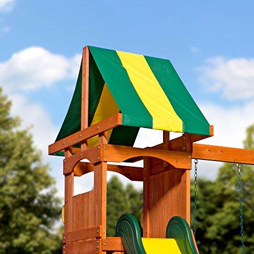 Backyard Discovery Weston All Cedar Wood Playset Swing Set