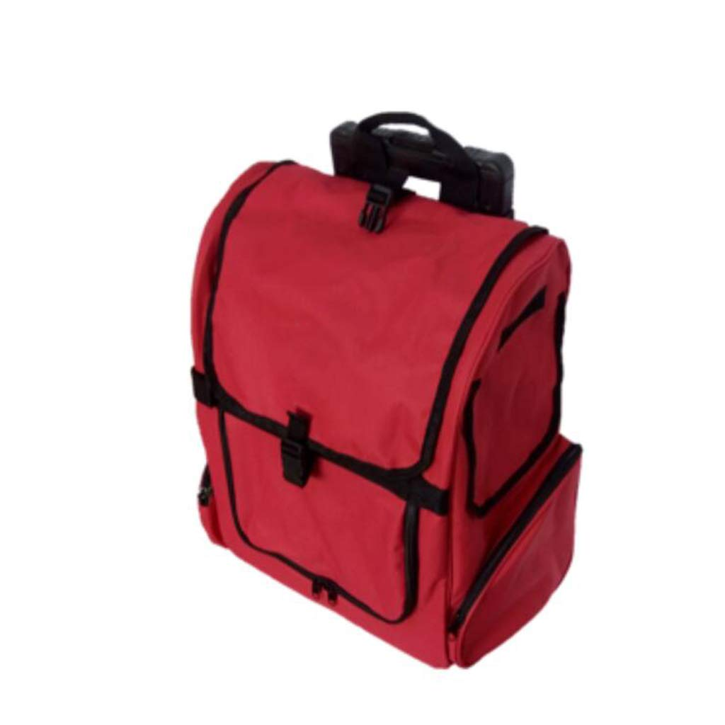 Red FJH Pet Bag Trolley Bag Pet Double Trolley Box Fully Enclosed Pet Out Portable Dog Backpack Dog Bag Trolley (color   Red)