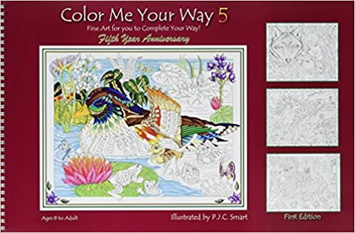 Color Me Your Way 5 Coloring Book Fine Art For You to Complete Your ...