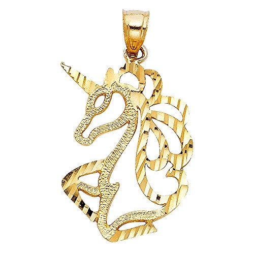 14k Yellow Gold Unicorn Pendant 14k Yellow Gold Unicorn Pendant