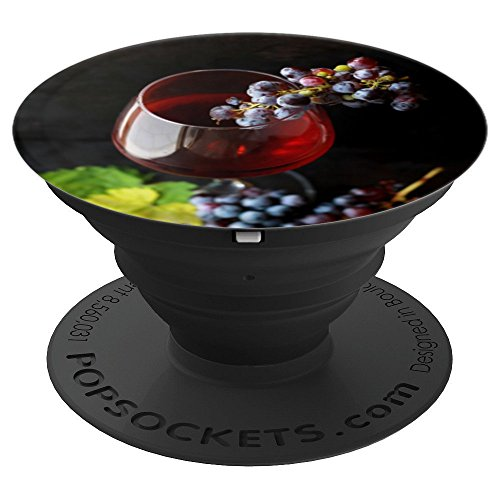 Red Wine Glass With Cabernet Sauvignon Grapes - PopSockets Grip and Stand for Phones and Tablets