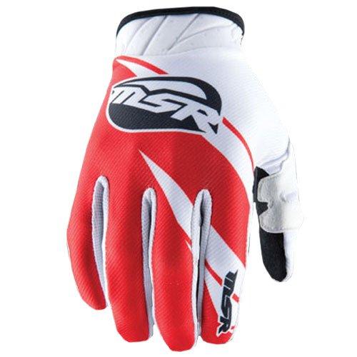 Msr Riding Gear - MSR Mens Max Air Split Gloves 2014 Small White Red