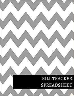 amazon com bill tracker spreadsheet 9781520935454 journals for