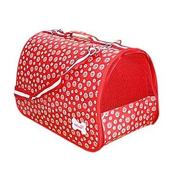 FMYXZ Gato Perro Transportines y Mochilas de Viaje Mini Mensajero Mascotas Cestas Portátil Rojo Rosa Tejido , s: Amazon.es: Hogar