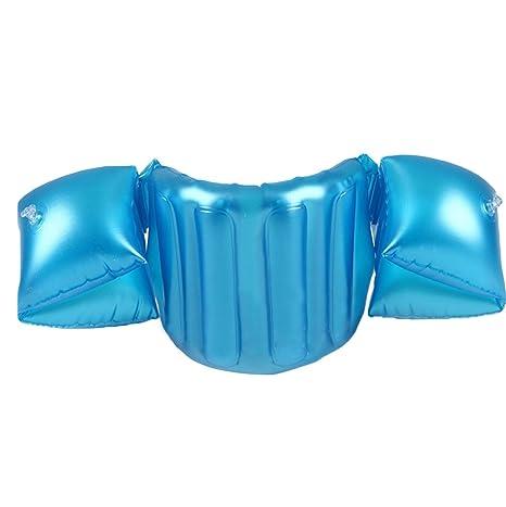 GEMVIE Manguitos Bebé Flotador Salvavidas Brazos Seguridad Piscina Nadar Acuático Azul 70×20cm