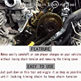 for Ford 4.6L/5.4L/6.8L 3V Engines Repair Tools Kit - Valve Spring Compressor, Crankshaft Positioning Tool, Cam Phaser Holding Tool and Timing Chain Locking Wedge Tool with Crankshaft Pulley Bolt