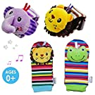 Daisy Animal Wrist Rattle and Foot Finder Set (Pack of 4)