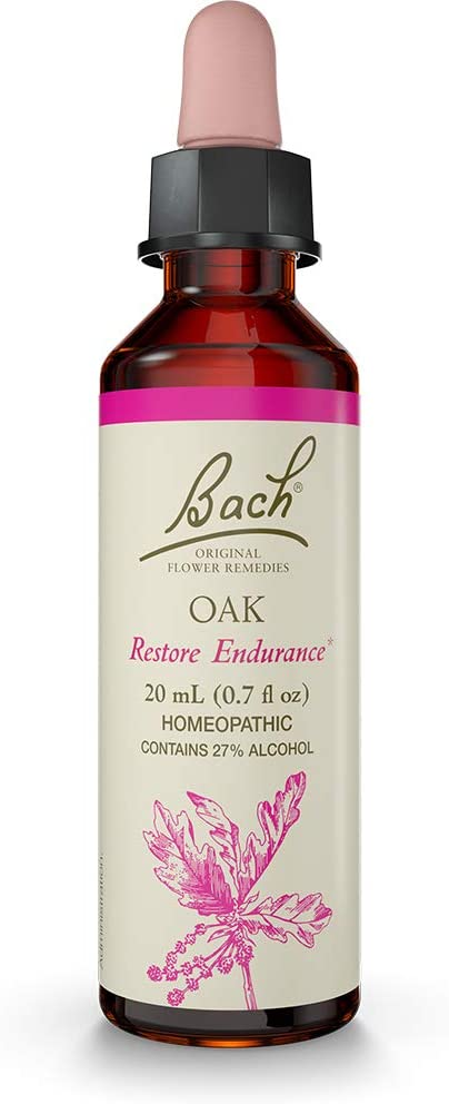 Bach Original Flower Remedy Dropper, 20 ml, Oak Flower Essence
